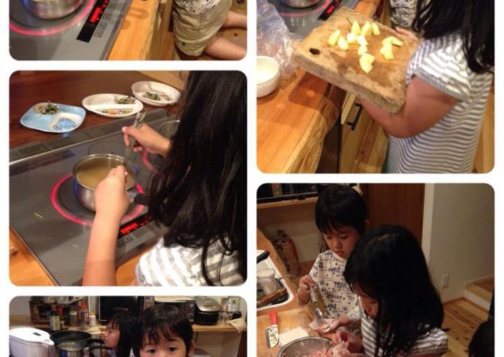 子どもたちにご飯を作ってもらいました。